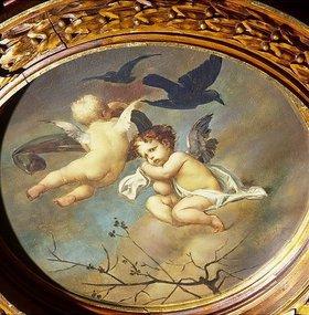 Ernst Klimt: Putten mit Raben. 19. Jahrhundert