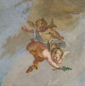 Johann Baptist Enderle: Putten (Detail eines Deckengemäldes)
