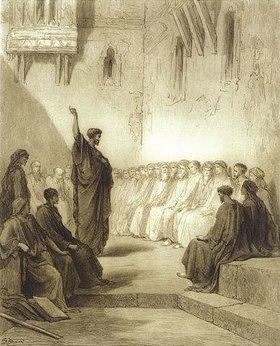 Gustave Doré: Der Heilige Paulus predigt in der Synagoge zu Thessaloniki