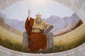 Unbekannter Künstler: Moses mit den Gesetzestafeln