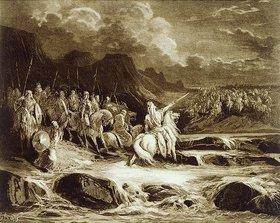 Gustave Doré: Judas Makkabäus verfolgt den syrischen Feldherrn Timotheus