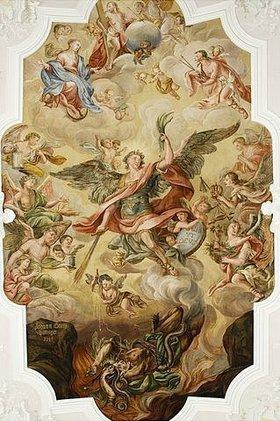 Unbekannter Künstler: Der Hl. Michael besiegt die Hölle