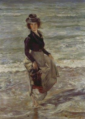Lovis Corinth: Mädchen am Strand