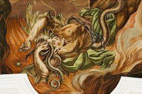 Unbekannter Künstler: Höllensturz (Detail)