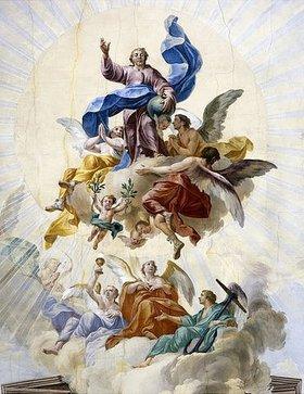 Christian Wink: Christus als Welterlöser mit den Allegorien Glaube, Hoffnung und Liebe