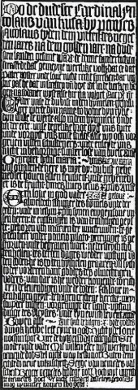 Die Hildesheimer Katechismustafel des Nikolaus von Kues
