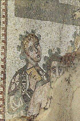 Unbekannter Künstler: Detail aus einem Mosaikfußboden