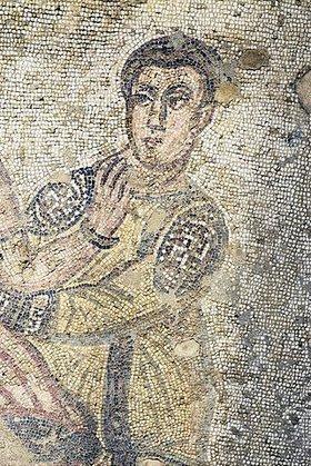Unbekannter Künstler: Mann. Mosaikfußboden