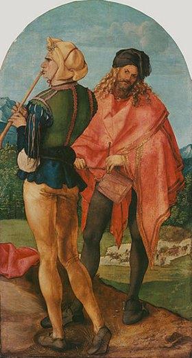 Albrecht Dürer: Jabach-Altar: Pfeifer und Trommler