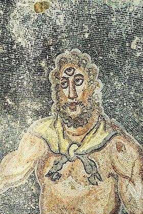 Unbekannter Künstler: Polyphem. Mosaikfußboden