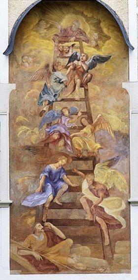 Unbekannter Künstler: Jakob mit der Himmelsleiter