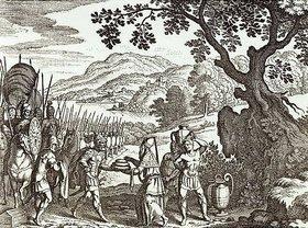 Matthäus Merian d.Ä.: Abraham und Melchisedech