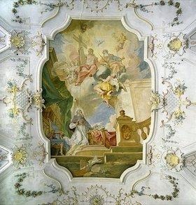 Johann Baptist Zimmermann: Der heilige Augustinus beim Verfassen seines Werkes De Trinitate