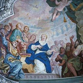 Johann Baptist Zimmermann: Pfingstwunder (Detail)