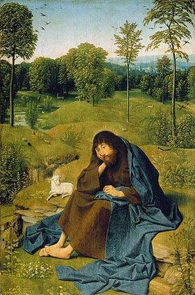 Geertgen tot Sint Jans: Johannes der Täufer in der Einöde. (o.J.)