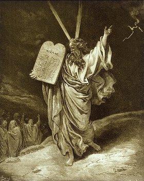 Gustave Doré: Moses mit den Gesetzestafeln