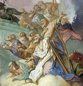 Josef Mages: König David mit der Harfe