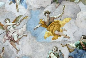 Bartholomäus Altomonte: Der Götterbote Merkur (Detail eines Deckengemäldes)