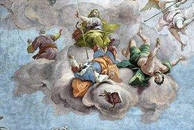 Bartholomäus Altomonte: Allegorie der Vernichtung der Irrgläubigen (Detail eines Deckengemäldes)