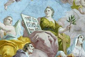 Bartholomäus Altomonte: Allegorie der Kirche (Detail eines Deckengemäldes)