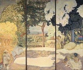 Pierre Bonnard: Mediterrane See. Triptychon