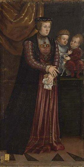 Deutsch: Anna, Tochter des Ladislaus III. von Schweden und Polen und zwei Prinzen