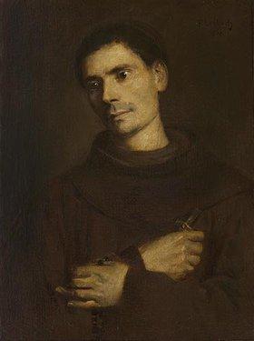 Franz von Lenbach: Bildnis eines Franziskanermönchs. 1866