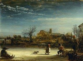 Rembrandt van Rijn: Winterlandschaft