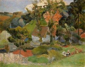 Paul Gauguin: Landschaft in Pont-Aven
