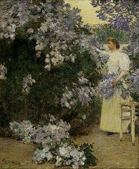 Frederick Childe Hassam: Die Frau des Künstlers im Garten