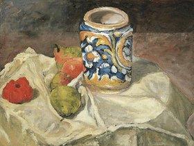 Paul Cézanne: Stilleben mit italienischer Fayence