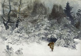 Bruno Andraes Liljefors: Fuchs in einer Winterlandschaft