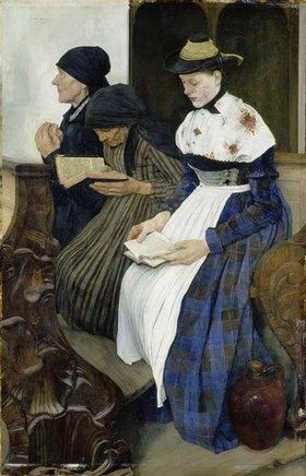 Wilhelm Leibl: Drei Frauen in der Kirche. 1878/82.