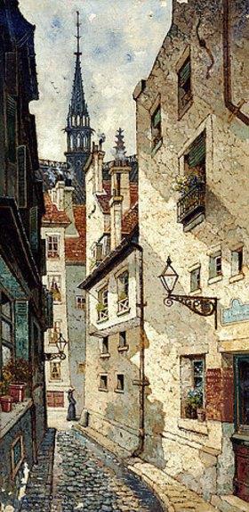 Edwin Deakin: Rue de Chartres, Paris