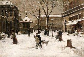 Luigi Loir: Winterliche Straßenszene in Paris