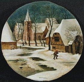 Pieter Brueghel d.J.: Dorfansicht im Winter