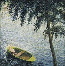 Henri Lebasque: Mädchen in einem Ruderboot