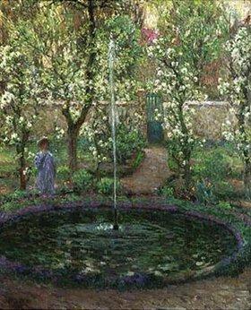 Henri Le Sidaner: Der Springbrunnen