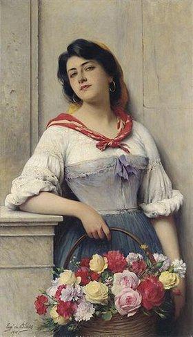 Eugen von Blaas: Das Blumenmädchen