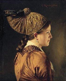 Carl Kronberger: Bildnis eines Mädchens mit Goldhaube