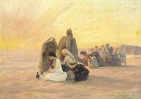 Otto Pilny: Sonnenaufgang in der Wüste