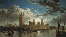 John MacVicar Anderson: Blick auf Westminster von der Themse aus