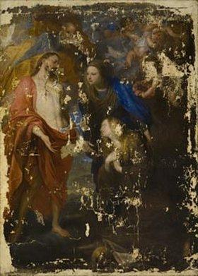 Anthonis van Dyck: Christus und die heilige Rosalie