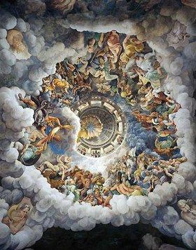 Giulio Romano (Giulio Pippi): Die Götter des Olymp. Fresko aus dem Saal der Giganten