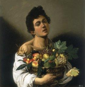 Caravaggio: Junger Mann mit Fruchtkorb