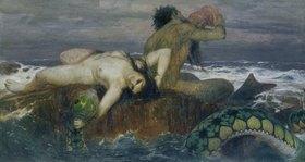 Arnold Böcklin: Triton und Nereide. Vor