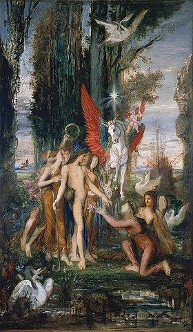 Gustave Moreau: Hesiod und die Musen