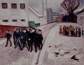 Edvard Munch: Dorfstraße mit brennendem Haus