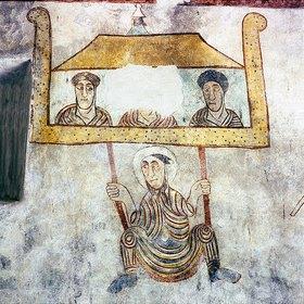 Hl. Prokulus wird auf der Flucht über d. Stadtmauer von Verona abgeseilt