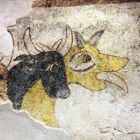 Kuh und Hirtenhund, Herde des hl. Prokulus